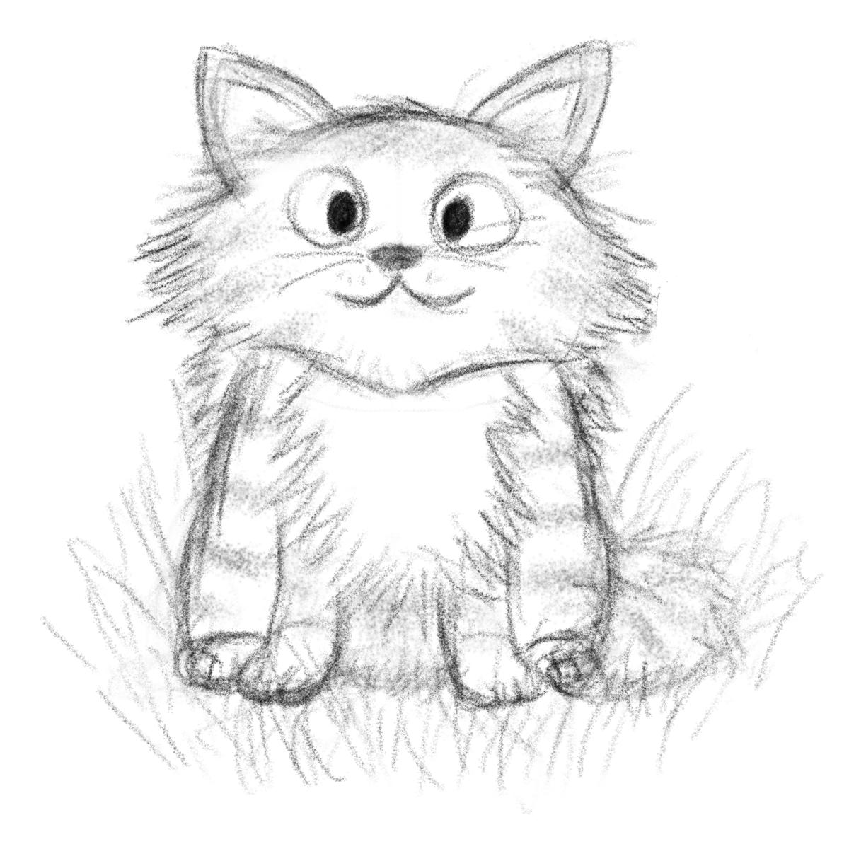 Прикольные рисунки котов карандашом, крутые