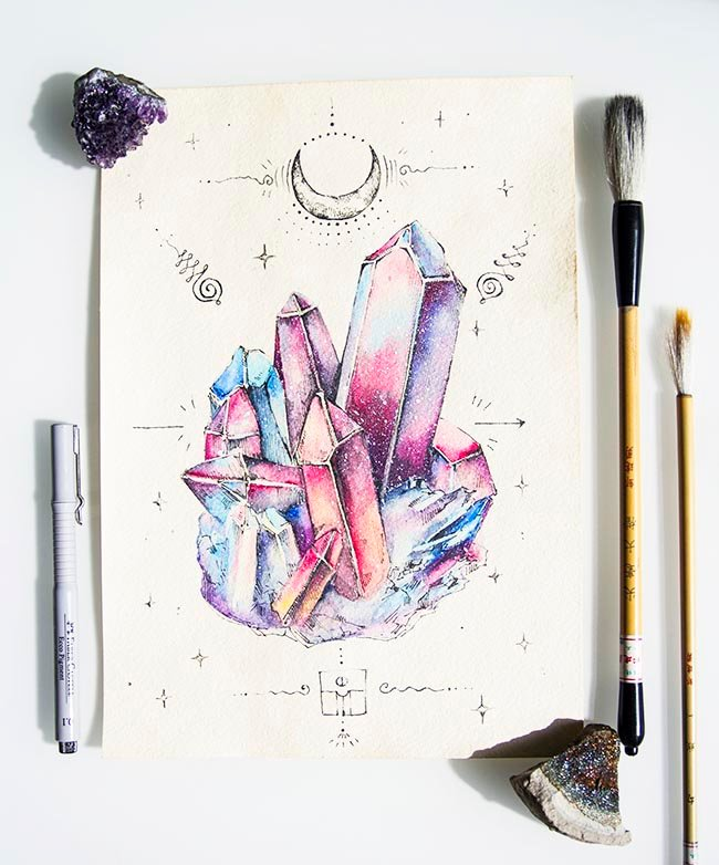 Как рисовать акварелью открытку