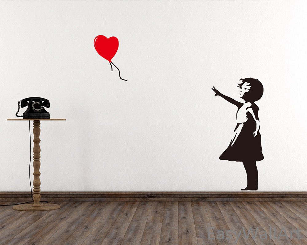 Девочка с шаром бэнкси картинки