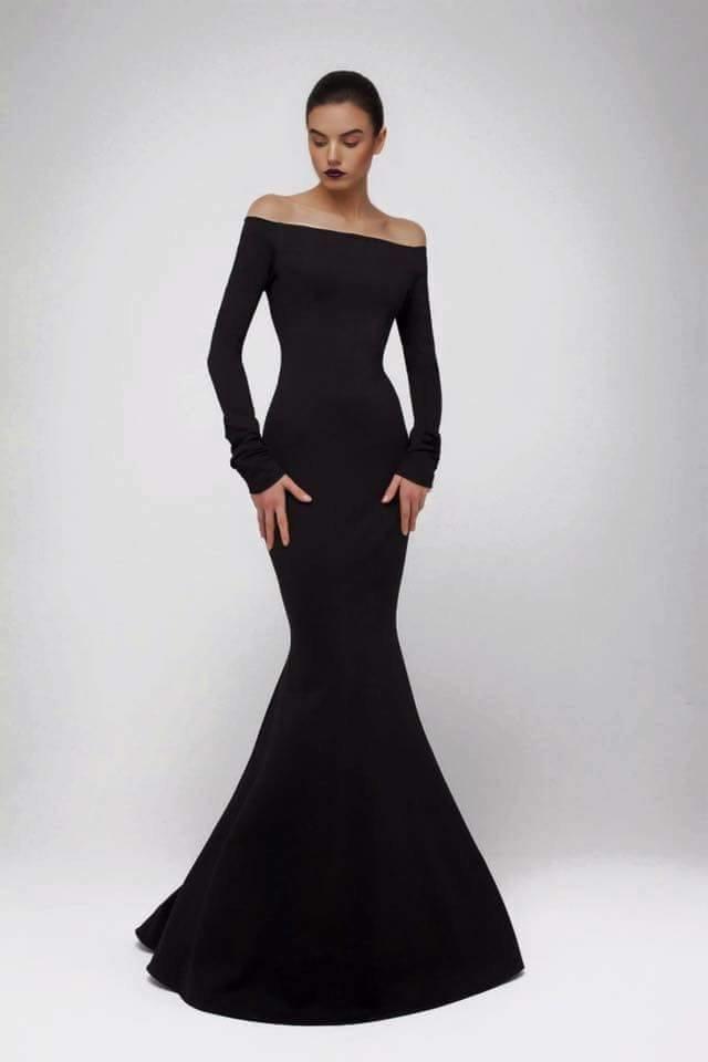 b71a9c57806 Вечернее платье из джерси с открытыми плечами» — карточка ...