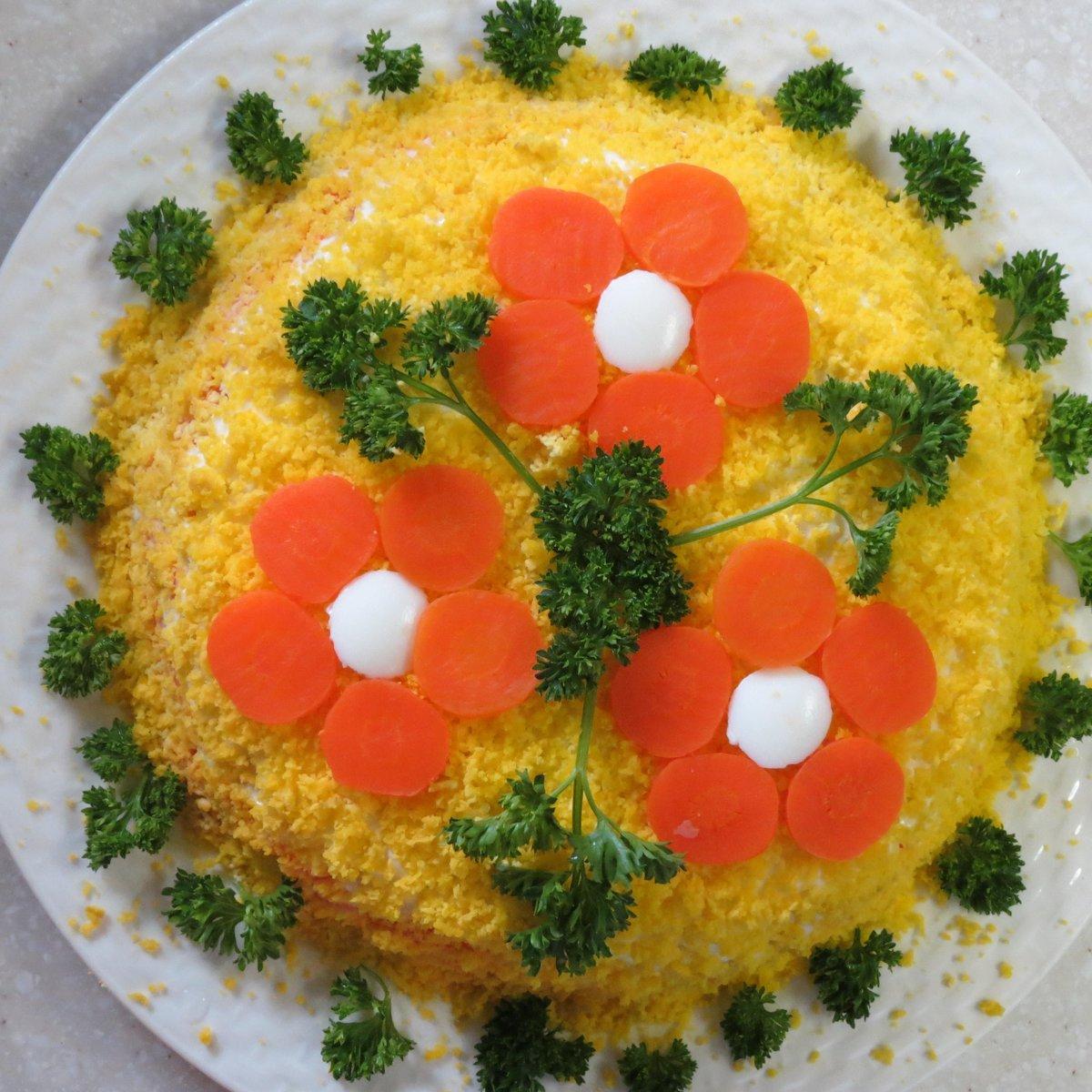 заставку как оформить салат картинки окольцовкой усатой