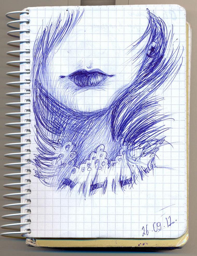проверки красивые рисунки шариковой ручкой для начинающих дизайна можно