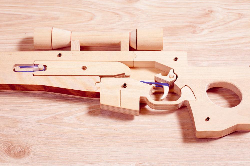Картинка винтовки из дерева
