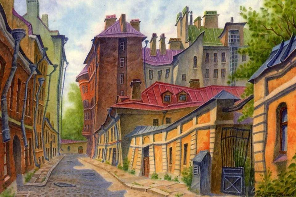 Дыбом картинки, картинки старого города рисунки
