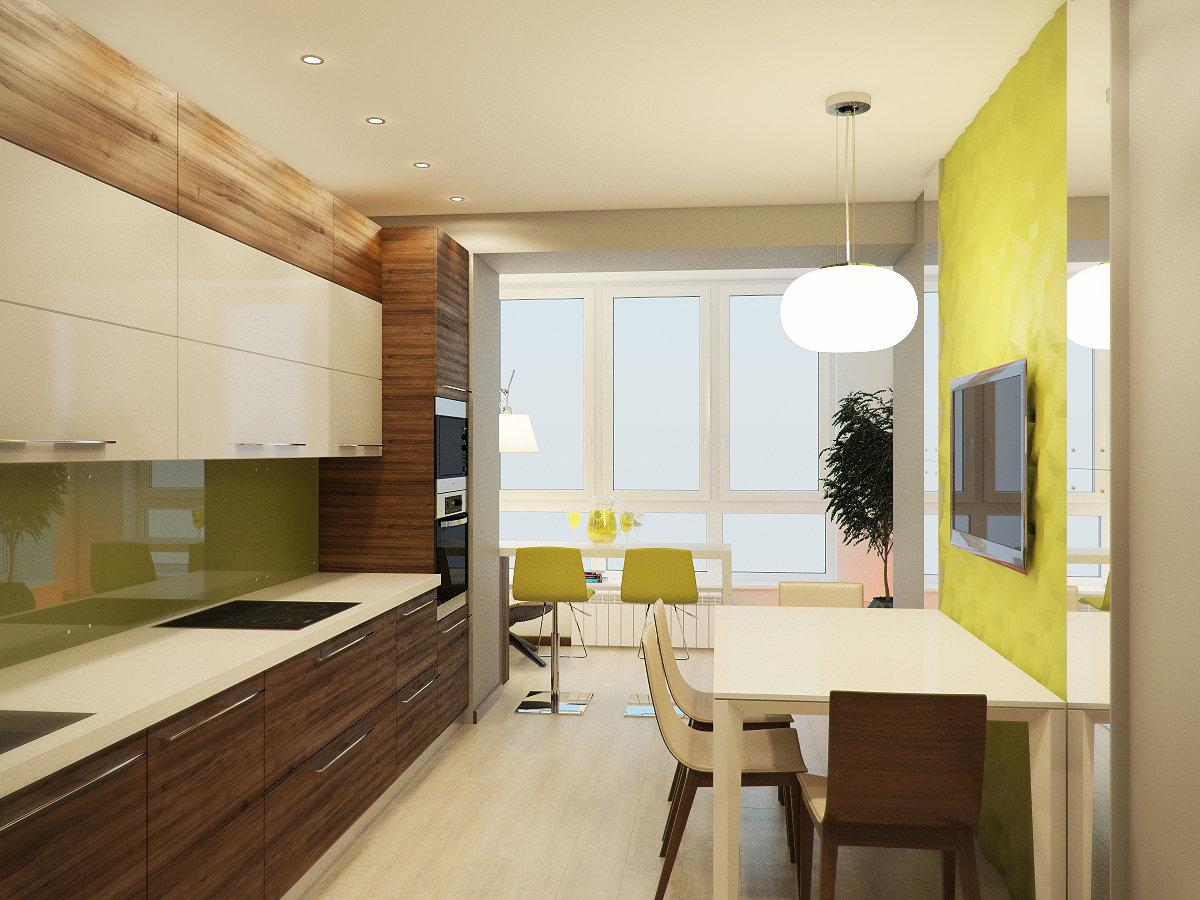 Кухни соединенные с балконом в картинках
