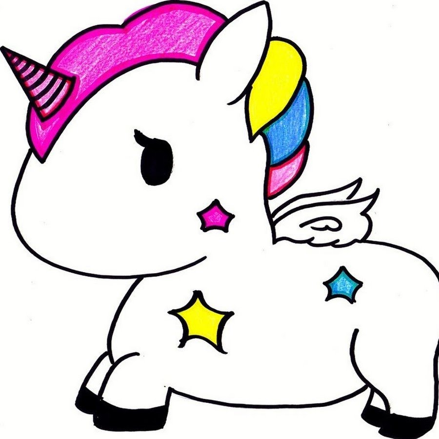 cute unicorn clipart - 900×900