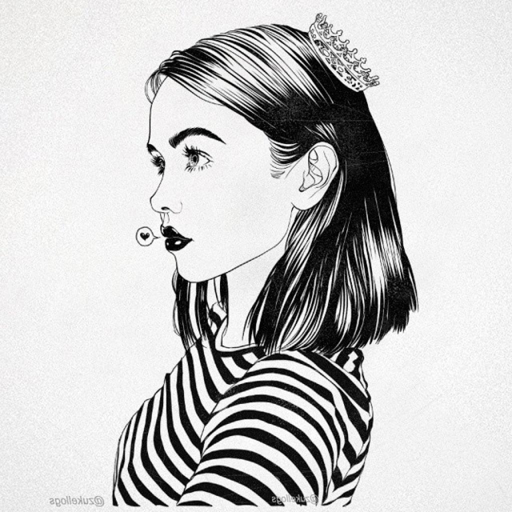 Tumblr Girl Drawing Hair Bing Images Card From User Arshavir