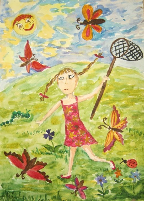 Картинки для детей про лето рисовать, новый год пожеланием