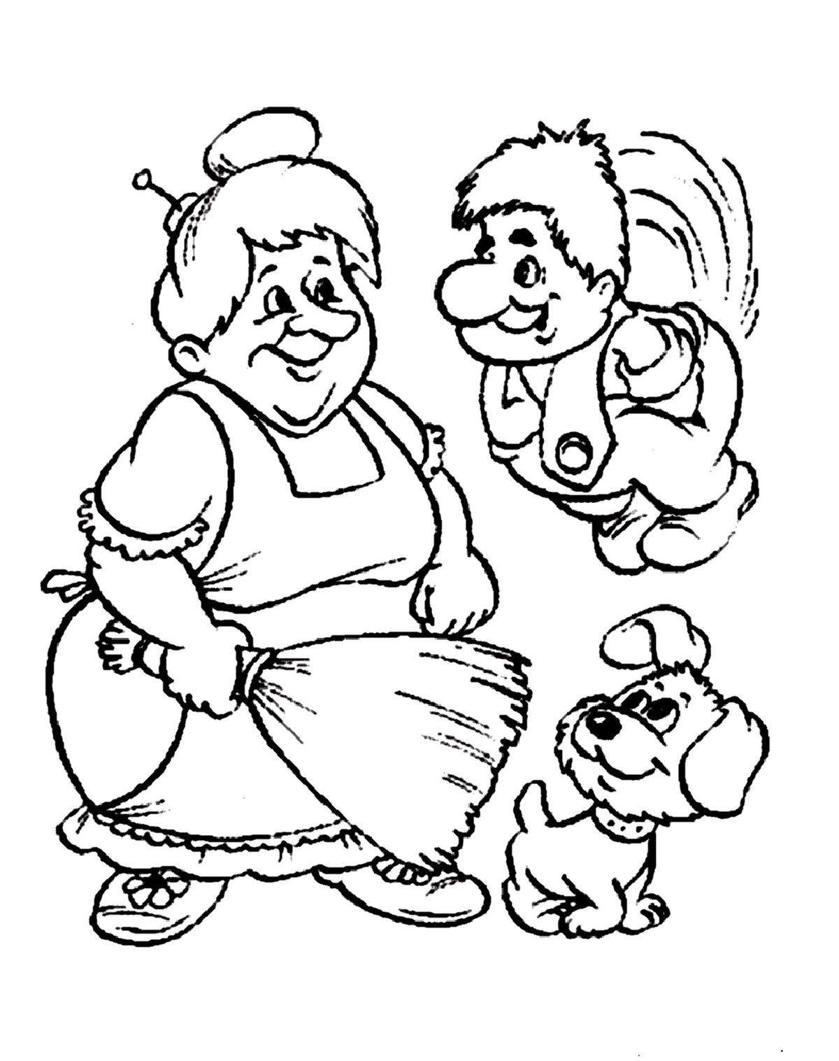 Картинка раскраска из мультфильмов