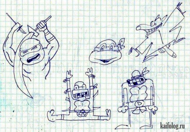 Как рисовать прикольные рисунки в тетради, добрым утром прикольные