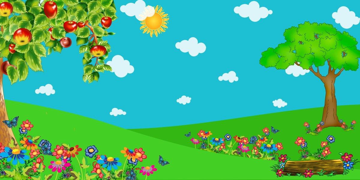 Открытка днем, картинки лесная поляна для детей на прозрачном фоне