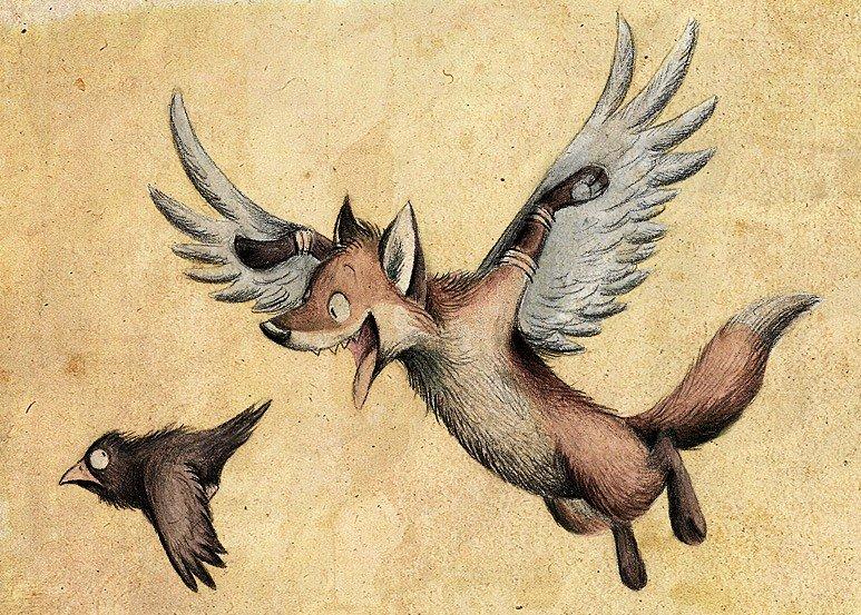 Картинки лис и ворон