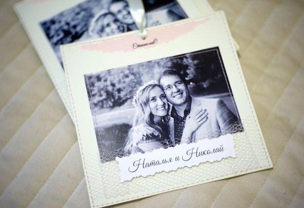 Надписью, фотография в виде открытки
