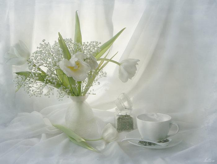 Картинки весенние с цветами с добрым утром, открытка