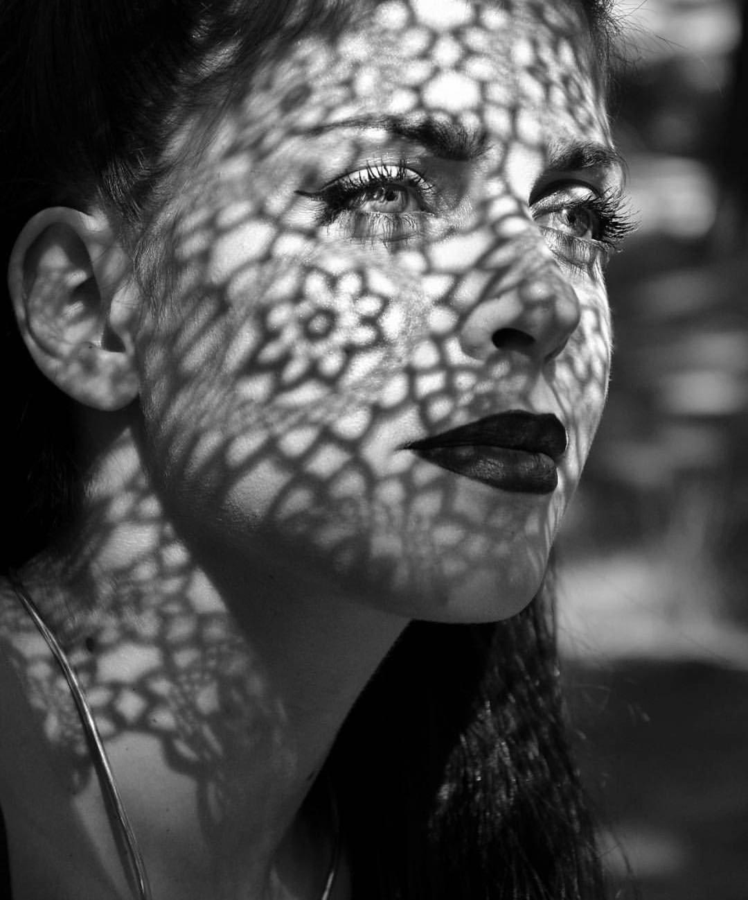 Картинка лица тенями