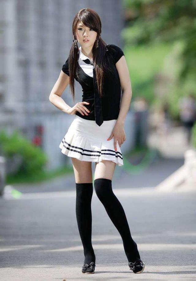 Японские красивые девушки студентка — pic 14