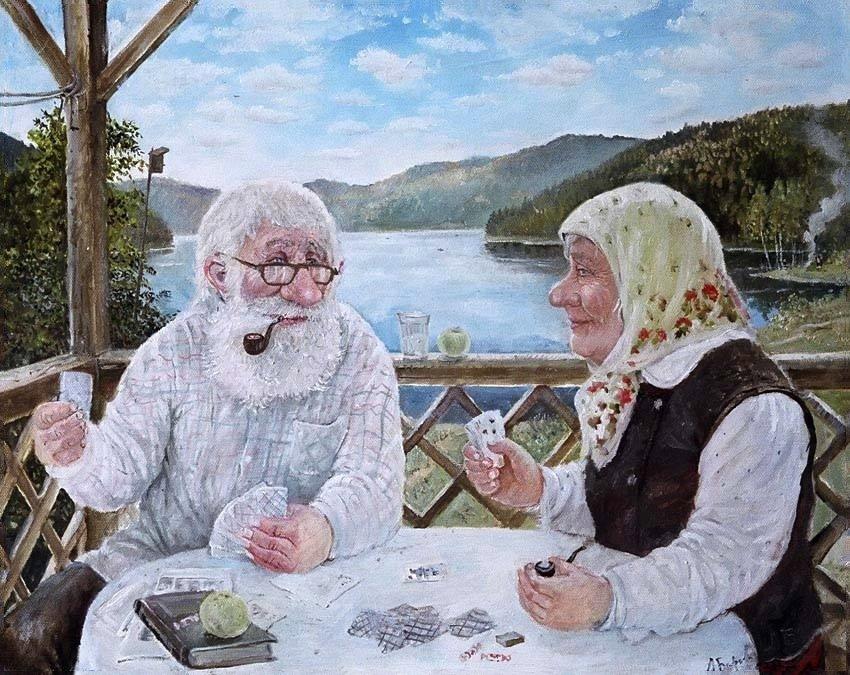Для фотошопа, смешная картинка бабки или деда