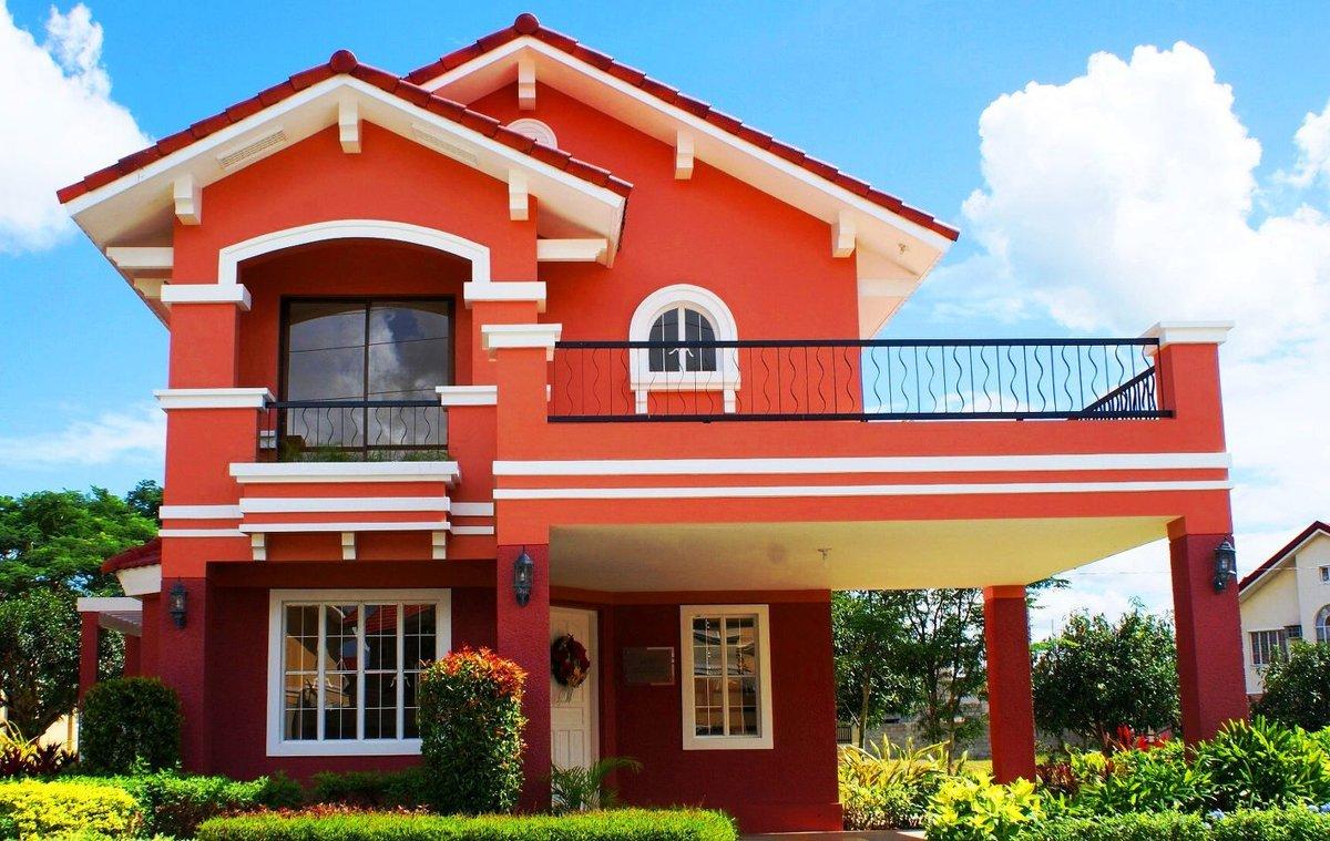 В какой цвет покрасить фасад дома фото