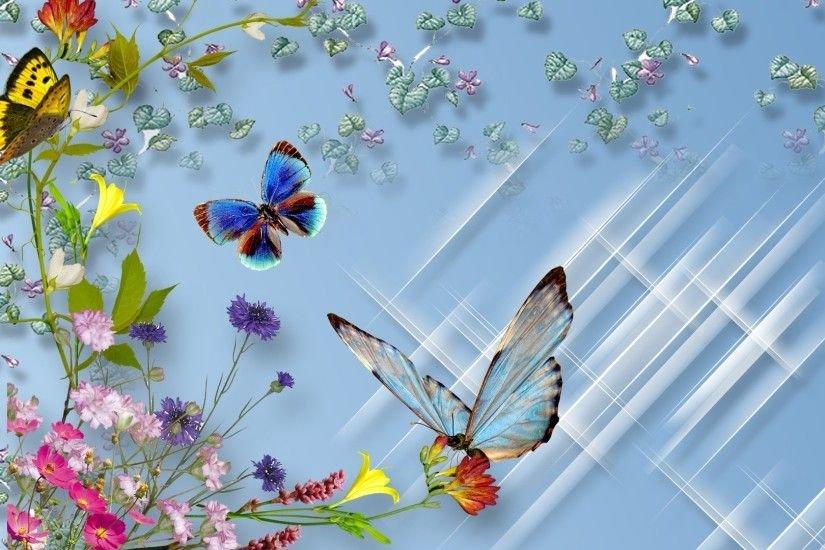 Открытки летающие бабочки
