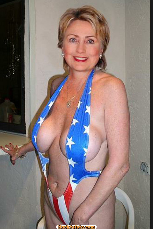 Clinton hillary fat woman in a bathing suit 4