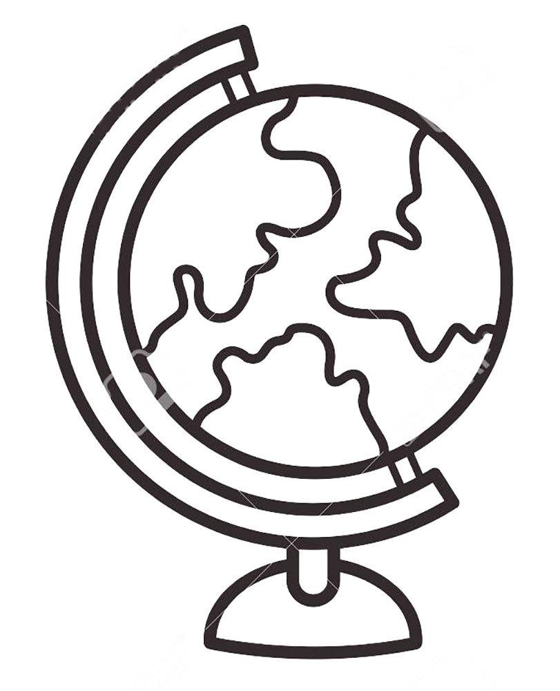 картинка глобуса рисовать одна