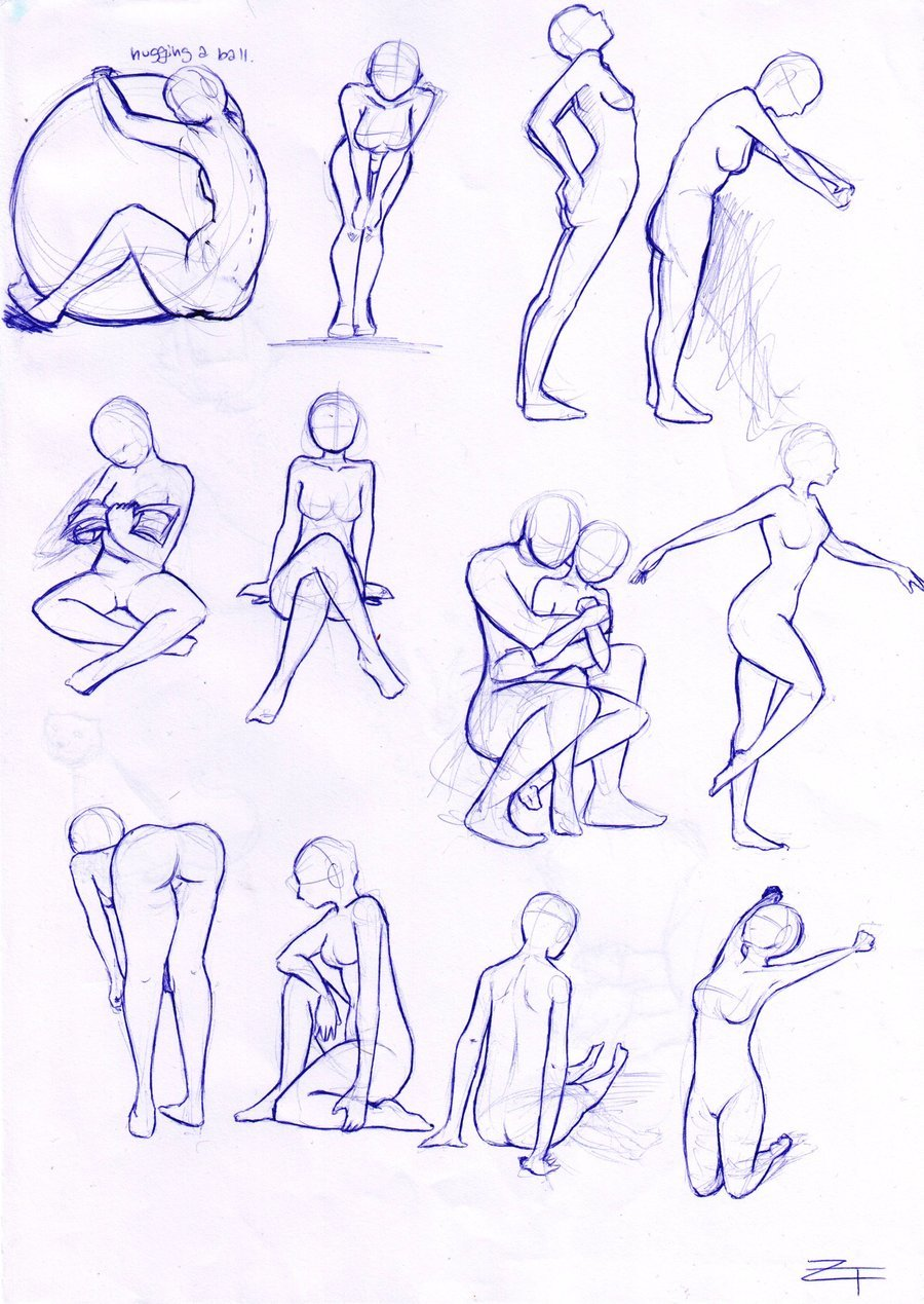 Anime Action Sketches Action Poses Iyuse On Deviantart Dra Card