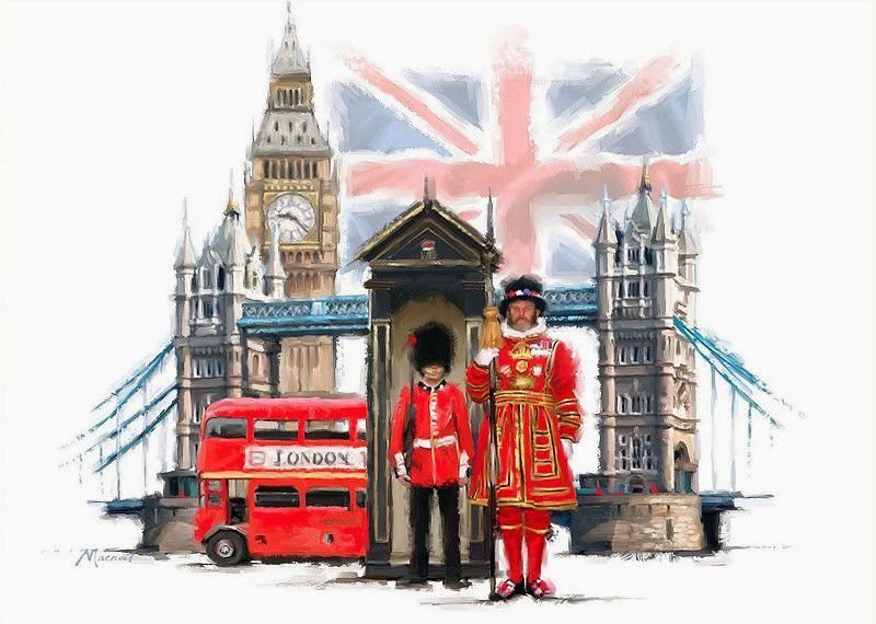 Про, открытка хорошей поездки в англию