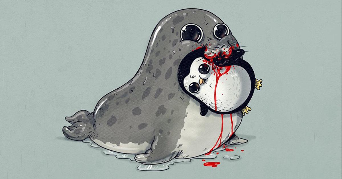 милые картинки животных рисунок легкие мой самый