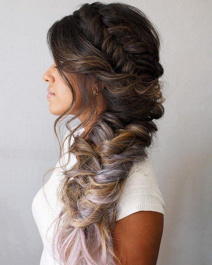 печать прически на длинные волосы с косами в картинках любителей