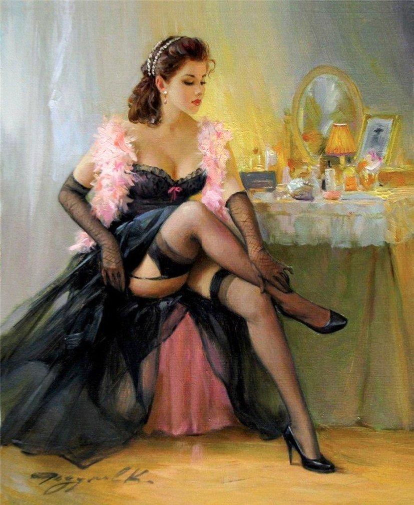 Галерея эротических женщин в рисунках, идеальные порно фото женщин