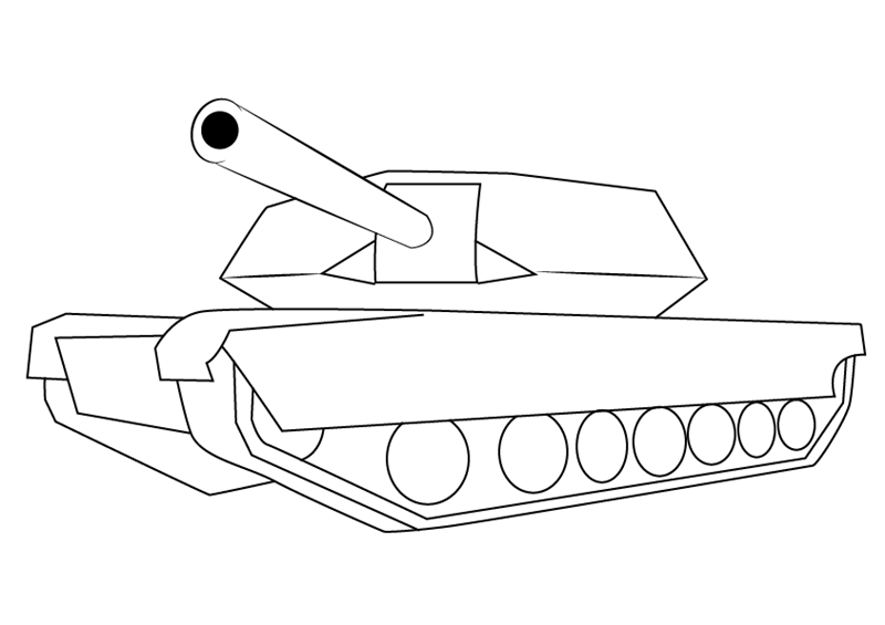 23 февраля картинки нарисовать танк