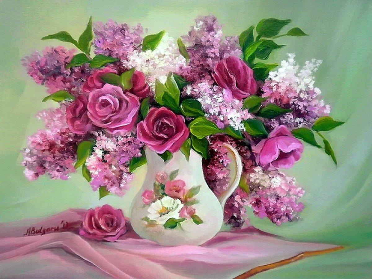 Открытки с цветами и букетами, сделать