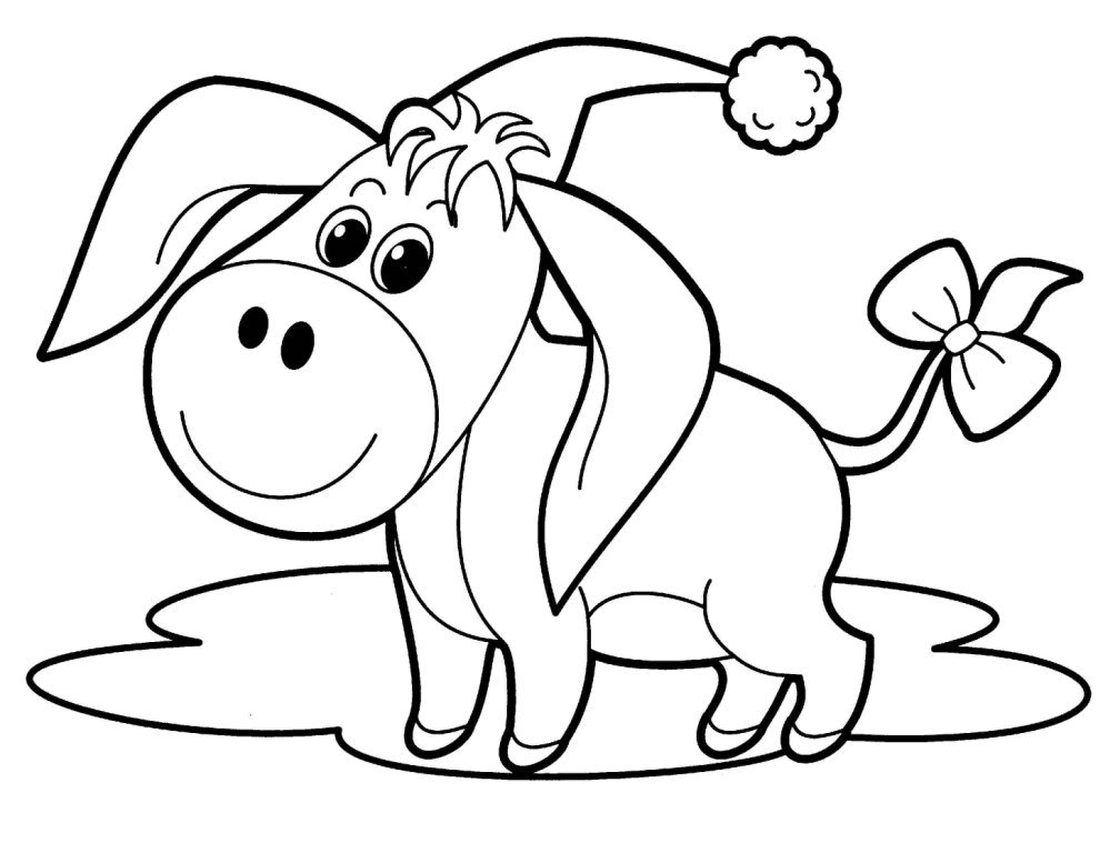 Открытки, смешные картинки для раскрашивания детям