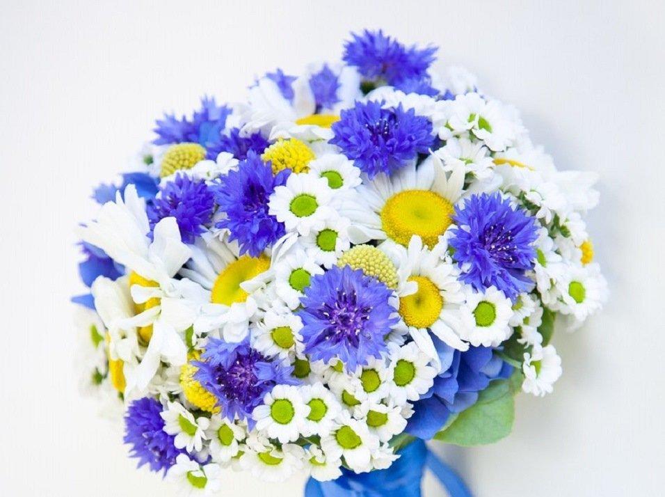 настолько картинки букетов цветов из васильков там