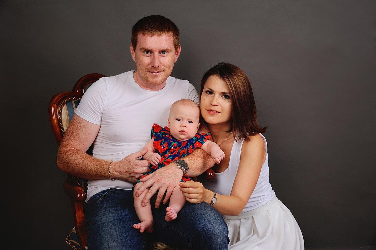 сначала профессиональная съемка семьи фото своей