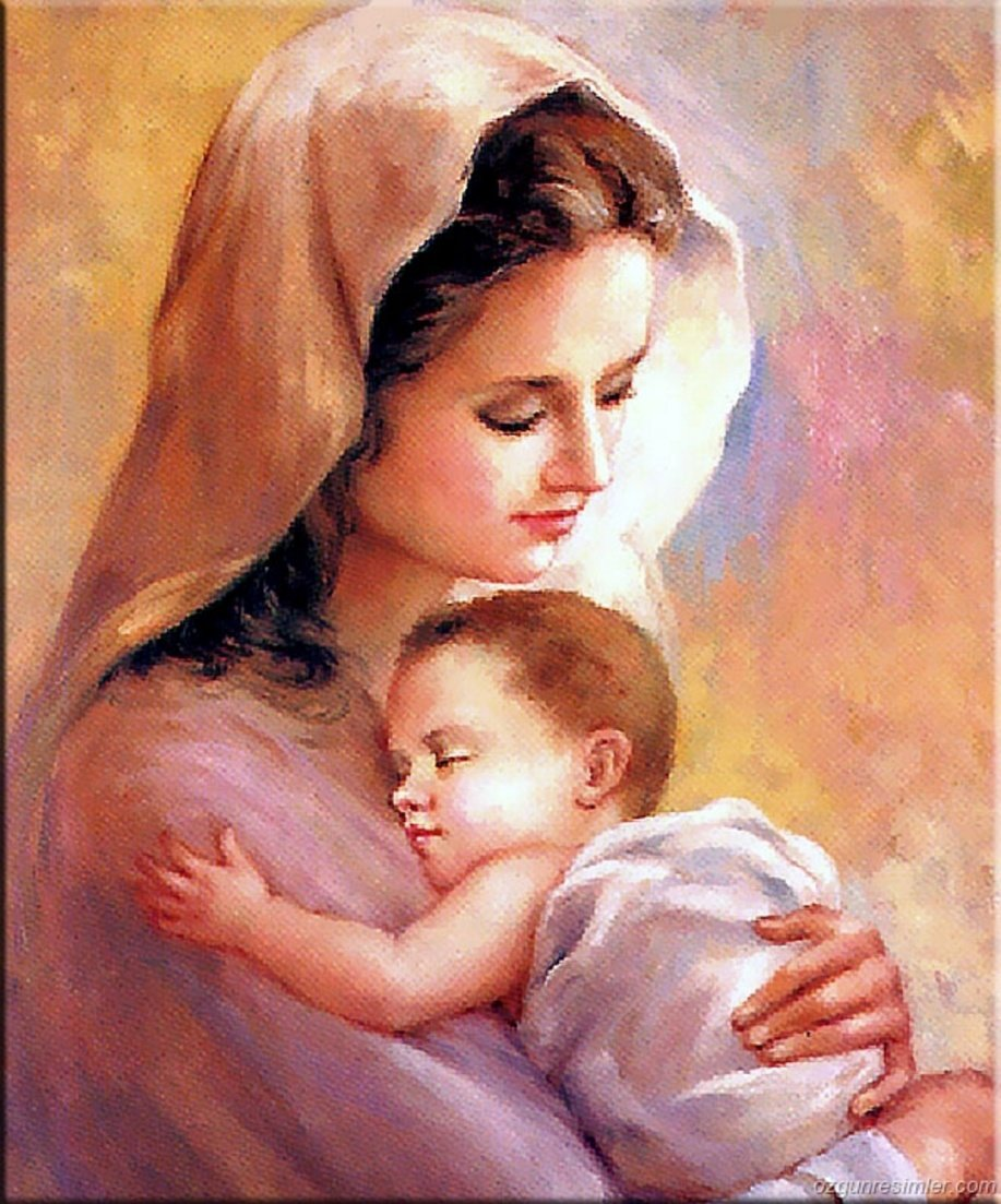 Картинки женщина с младенцем на руках
