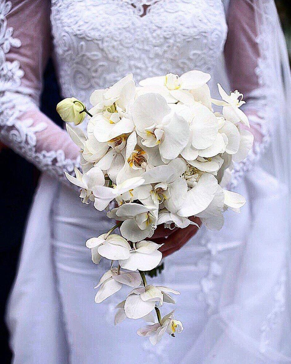 Букета доставка, букет невесты из орхидеи летом фото