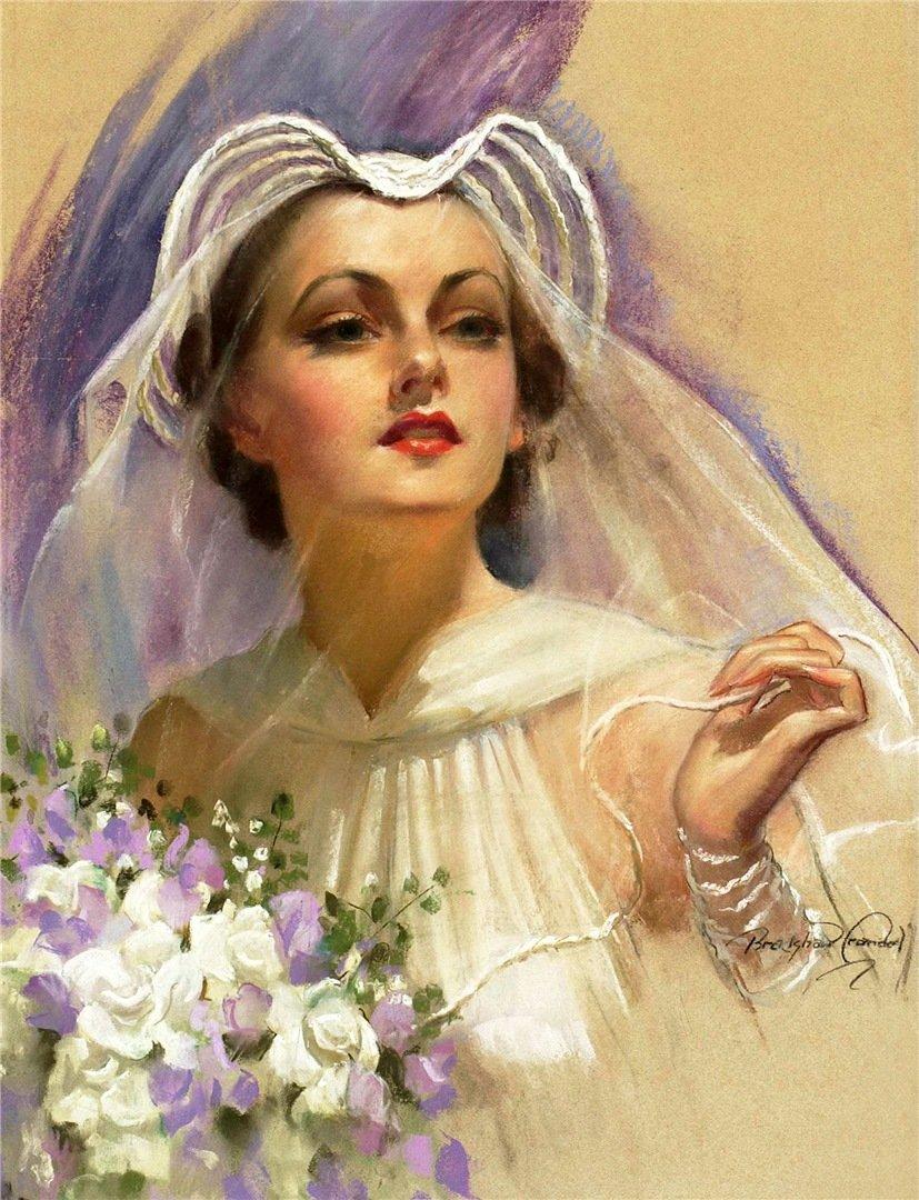 Женский образ в открытках, открытки