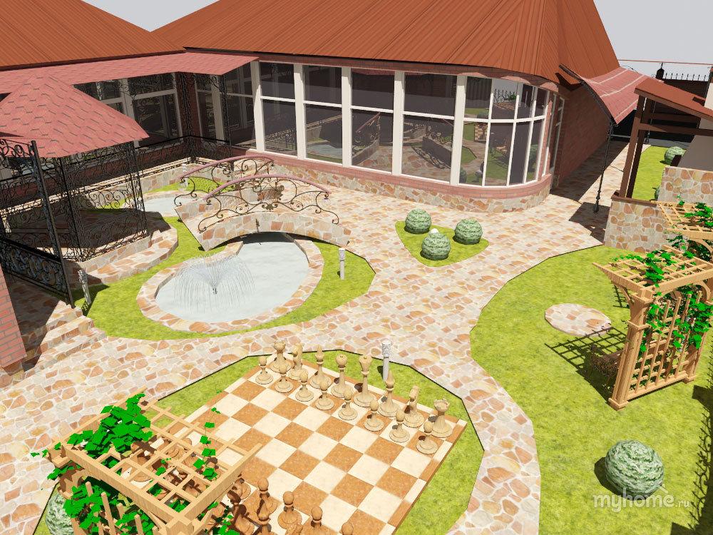 может проект двора частного дома фото можете купить