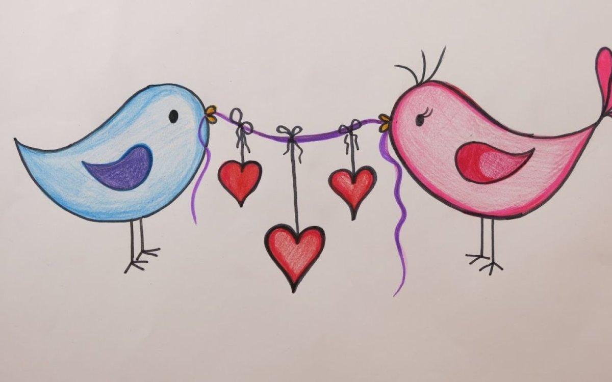 Любовные картинки рисунки