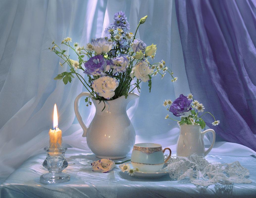 Приятного вечера картинка с цветами