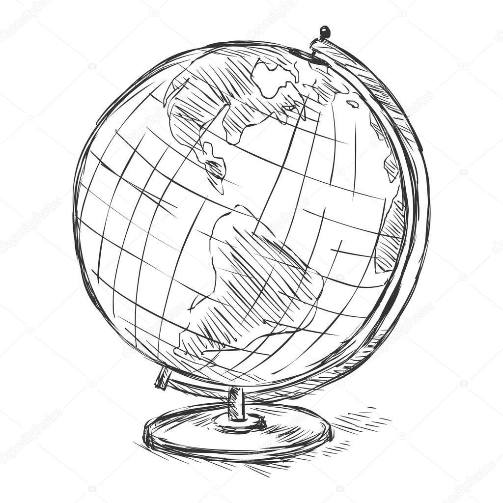 глобус картинка поэтапно прелестных красотки так