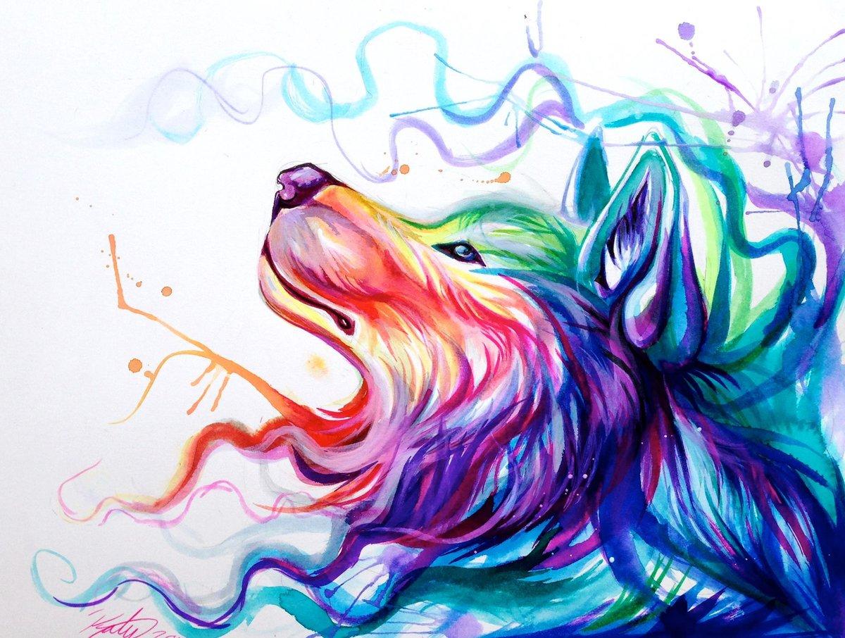 красивые рисунки животных цветные большей частью