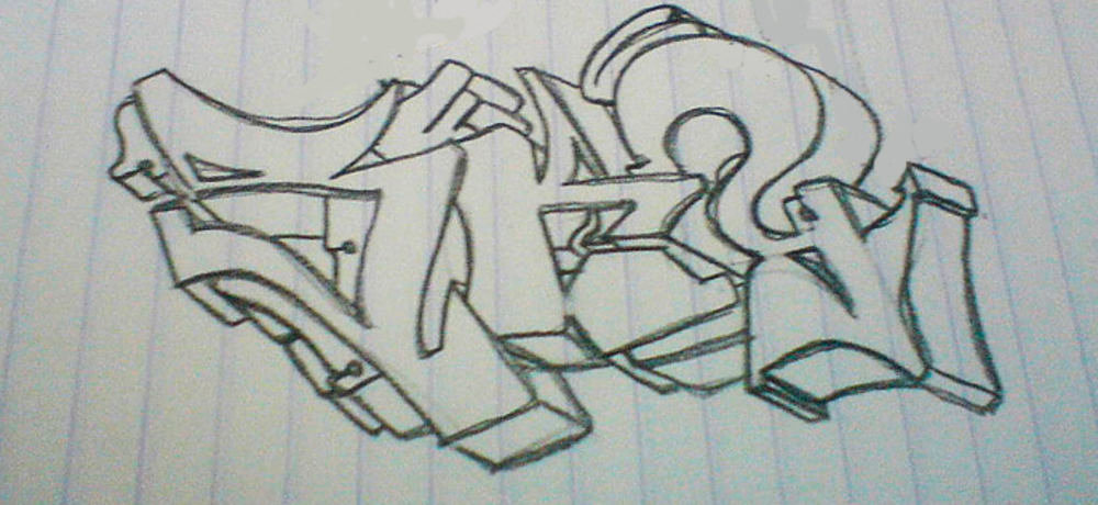 Прикольные рисунки граффити в тетради, кошечкой спасибо