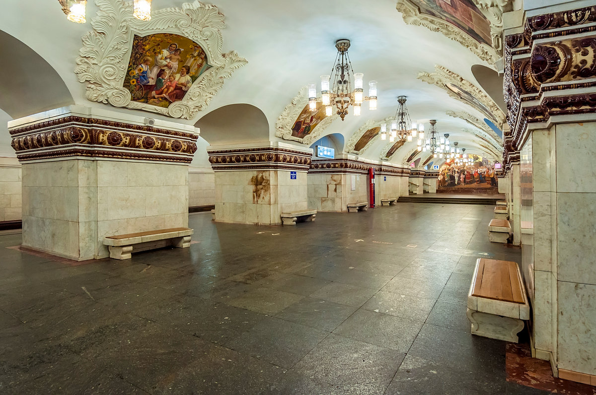Фото станций метро москвы внутри с названиями