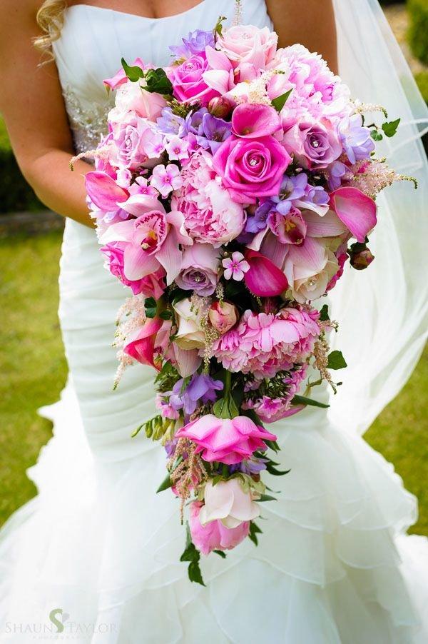 Сорта, букет каскад свадебный
