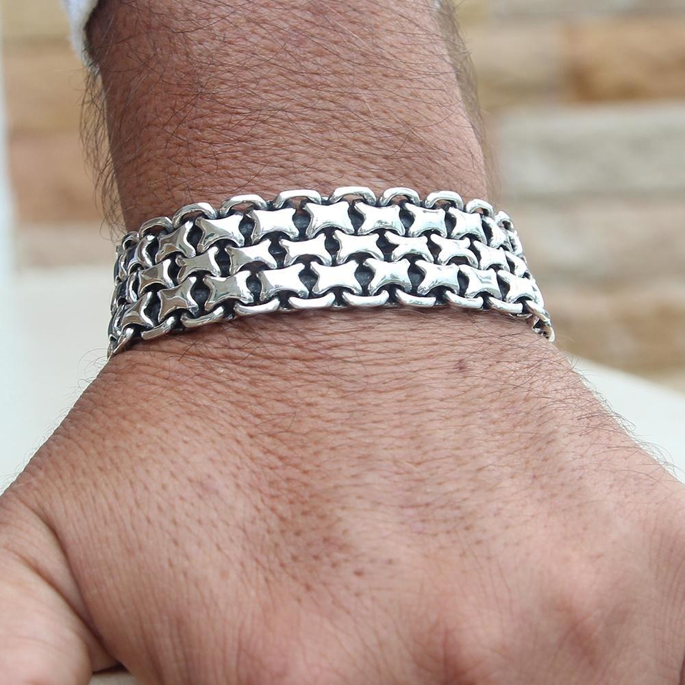 некоторые картинки мужских браслетов из серебра открывает