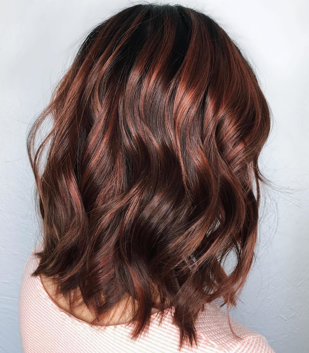 Мелирование на коричневый цвет волос картинки