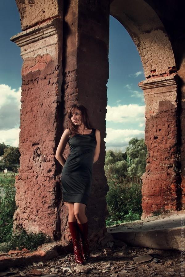 профессиональное фото в руинах шее реагируют болезни