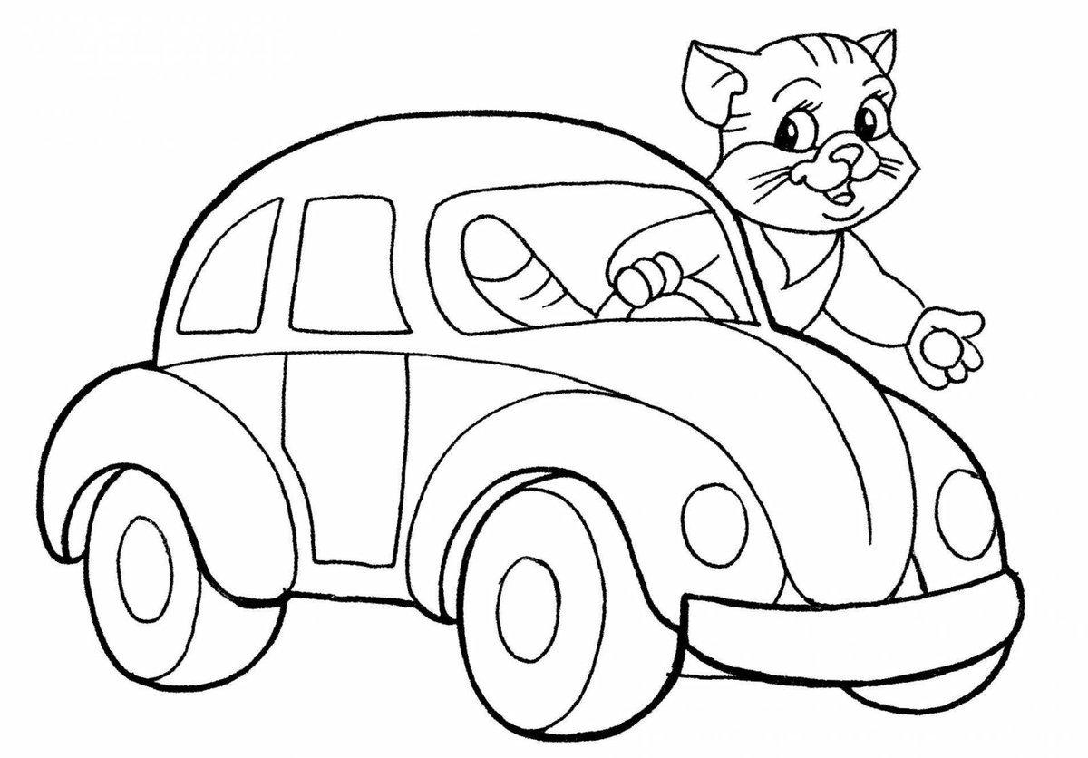Машинка картинка для детей раскраска